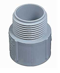 Thomas & Betts E943GR-CTN 1-1/4-Inch Gray Schedule 40 And 80 Male Terminal Adapter