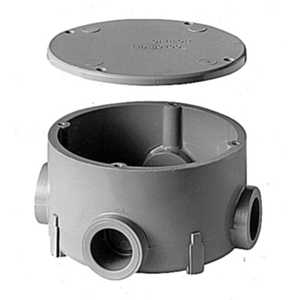 Thomas & Betts E970CE-CTN 3/4 in Type X Non-Metallic Round Junction Box With Cover