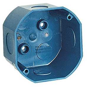 Thomas & Betts A615DE-CAR 4-Inch Octagon Blue Ent Ceiling Box