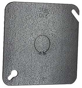Thomas & Betts 52C6 4-Inch Square Galvanized Outlet Box Cover