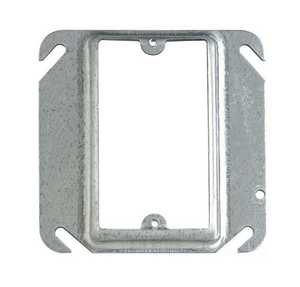 Thomas & Betts 52C13-30 1-Gang 4-Inch Square Galvanized Device Cover