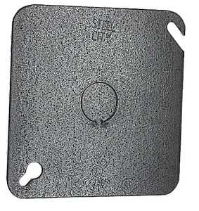 Thomas & Betts 72C6 4-11/16-Inch Square Galvanized Outlet Box Cover