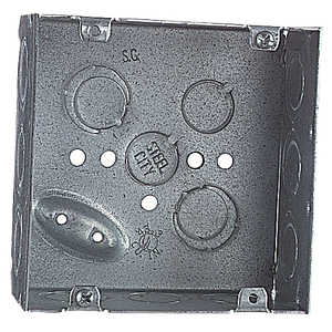 Thomas & Betts 72171 1/2 3/4 E 4-11/16 in Square Outlet Box