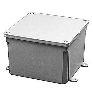 Thomas & Betts E989RRR Molded Non-Metallic Junction Box, 6x6x6