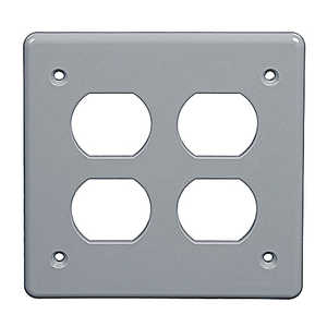 Thomas & Betts E98DGDR 1 Gang Weatherproof Double Duplex Receptacle Box Cover