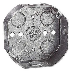 Thomas & Betts 54151-1/2 4 in Steel Octagon Box