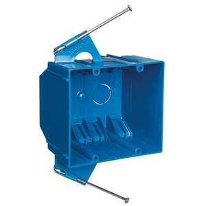 Thomas & Betts B232AR-UPC 2-Gang 32 Cu In Blue Non-Metallic Outlet Box With Captive Nails