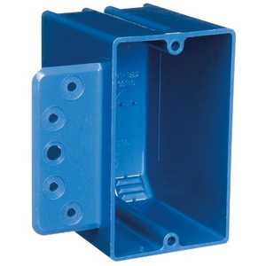 Thomas & Betts B118B-UPC 1-Gang 18 Cu In Blue Non-Metallic Outlet Box With Bracket