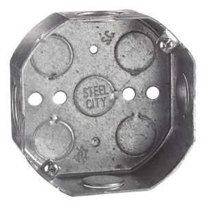 Thomas & Betts 54151.5-30 4-Inch Octagon Galvanized Outlet Box