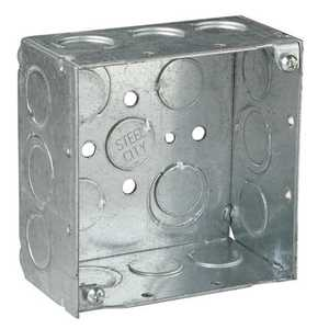 Thomas & Betts 521711/23/4E-30 4 in Square Outlet Box