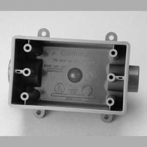 Thomas & Betts E9811EN 3/4 in Non-Metallic One Gang Deep Fd Box, 25 Cu In, Type Fdc