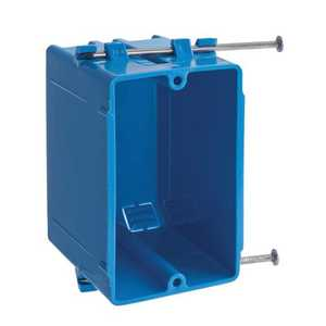 Thomas & Betts B118A 1-Gang 18 Cu In Blue PVC Nail-On Wall Box With Captive Nails