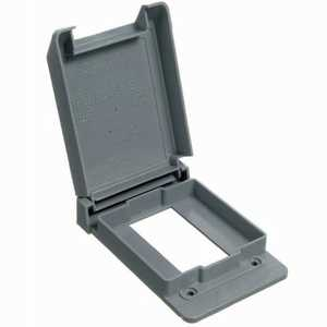 Thomas & Betts E98GFCN-CAR 1-Gang Weatherproof Vertical Mount Gfci Receptacle Box Cover - Gray