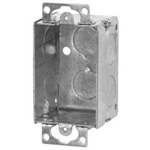Thomas & Betts 51 Switch Box, Steel, 3 in X 2 in X 2 in , 10 Cu In ,