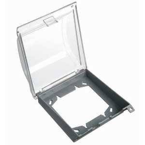 Thomas & Betts E9U2CRN2 2-Gang Weatherproof Vertical Mount In-Use Box Cover - Clear