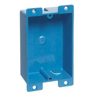 Thomas & Betts B108R-UPC 1-Gang 8 Cu In Blue Non-Metallic Old Work Outlet Box With Flange