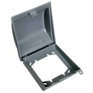 Thomas & Betts E9U2GRN2 2-Gang Weatherproof Vertical Mount In-Use Box Cover - Gray