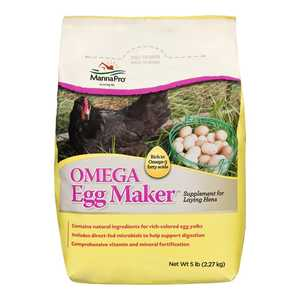 Manna Pro MPC20043236 Omega Egg Maker Poultry Supplement 5Lb
