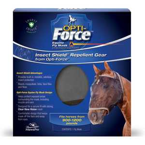 Manna Pro MPCF 0994489912 Insect Shield Opti-Force Fly Mask
