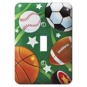 AmerTac 1811T Sports Steel 1-Toggle Wallplate