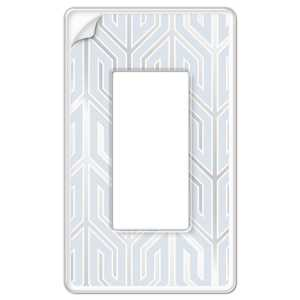 AmerTac 99R Paper-It Clear Screwless Composite 1-Rocker Wallplate