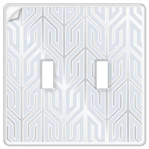 AmerTac 99TT Paper-It Clear Screwless Composite 2-Toggle Wallplate