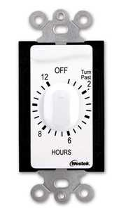 Westek TMSW12HW Indoor Wire-In Spring Wound Countdown Timer 12-Hour