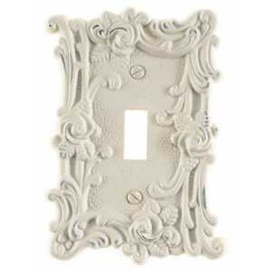 AmerTac 60TAW Provincial Antique White Cast Metal 1-Toggle Wallplate
