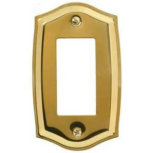 AmerTac 76RBR Sonoma Polished Brass Solid Brass 1-Rocker-Gfci Wallplate