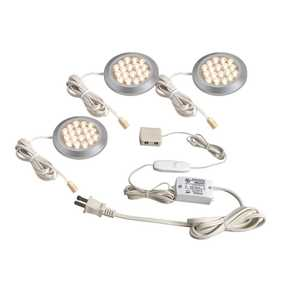 Westek LSPD32KBCC LED Dimmable Under Cabinet Puck Starter Kit 3-Pack