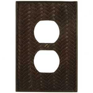 AmerTac 8340DB Weave Bronze Resin 1-Duplex Outlet Wallplate