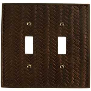 AmerTac 8340TTB Weave Bronze Resin 2-Toggle Wallplate