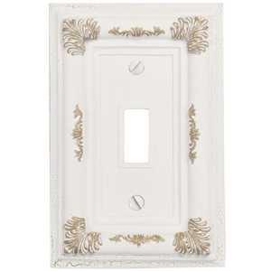 Amertac 8350TAW Isabella Antique White Resin 1 Toggle Wallplate