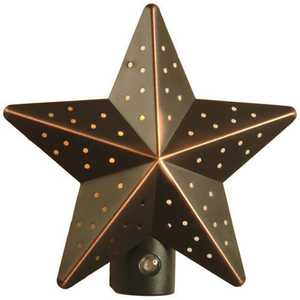 AmerTac 75050VB Aged Bronze Tin Star Auto On/Off Nite Lite