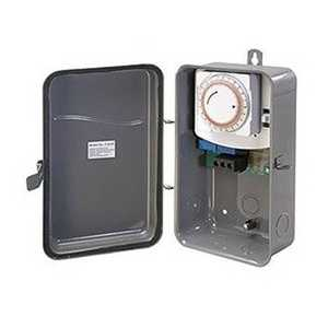 Amertac TM101R 125-Volt Outdoor Wire-In Daily Mechanical Time Switch