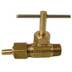 Watts LFA-40 1/4 in Compression X 1/8 in Mip Lead Free Ander-Lign Tube To Male Pipe Straight Needle Valve