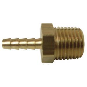 Watts A385A/PB225 1/2 Id Barb X 3/8 Mip Brass Hose Adapter