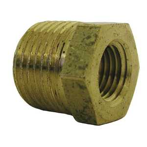 Watts LFA-738 1/4 in X 1/8 in Mip X Fip Lead Free Male Pipe To Female Pipe Hex Bushing