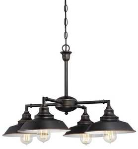 Westinghouse Lighting 6343300 Iron Hill Four-Light Indoor Convertible Chandelier