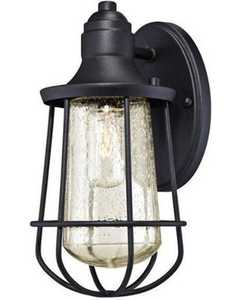 Westinghouse Lighting 62029 1 Light Outdoor Wall Lantern, Textured Black Finish