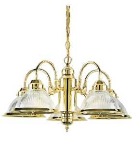 Westinghouse Lighting 66054 Chandelier 5-Light Polished Brass