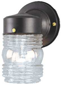 Westinghouse Lighting 66885 One-Light Outdoor Wall Fixture, Matte Black Finish