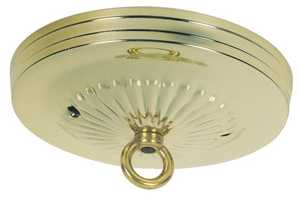 Westinghouse Lighting 7005200 Brass Finish Traditional Canopy Kit