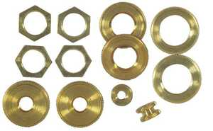 Westinghouse Lighting 7015300 12 Assorted Solid Brass Locknuts