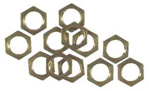 Westinghouse Lighting 7017200 12 Solid Brass Hex Nuts
