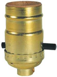 Westinghouse Lighting 7041000 Brass Finish Push-Through Socket With Set Screw