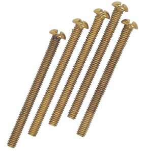 Westinghouse Lighting 7063600 Five Brass-Plated Steel Round Head Screws