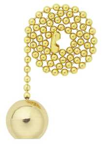 Westinghouse Lighting 7700400 Solid Brass Ball Pull Chain