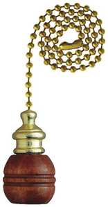 Westinghouse Lighting 7700700 Sculptured Wooden Ball Walnut Finish Pull Chain