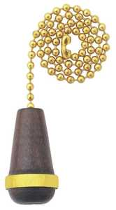 Westinghouse Lighting 7700800 Wooden Cone Walnut Finish Pull Chain